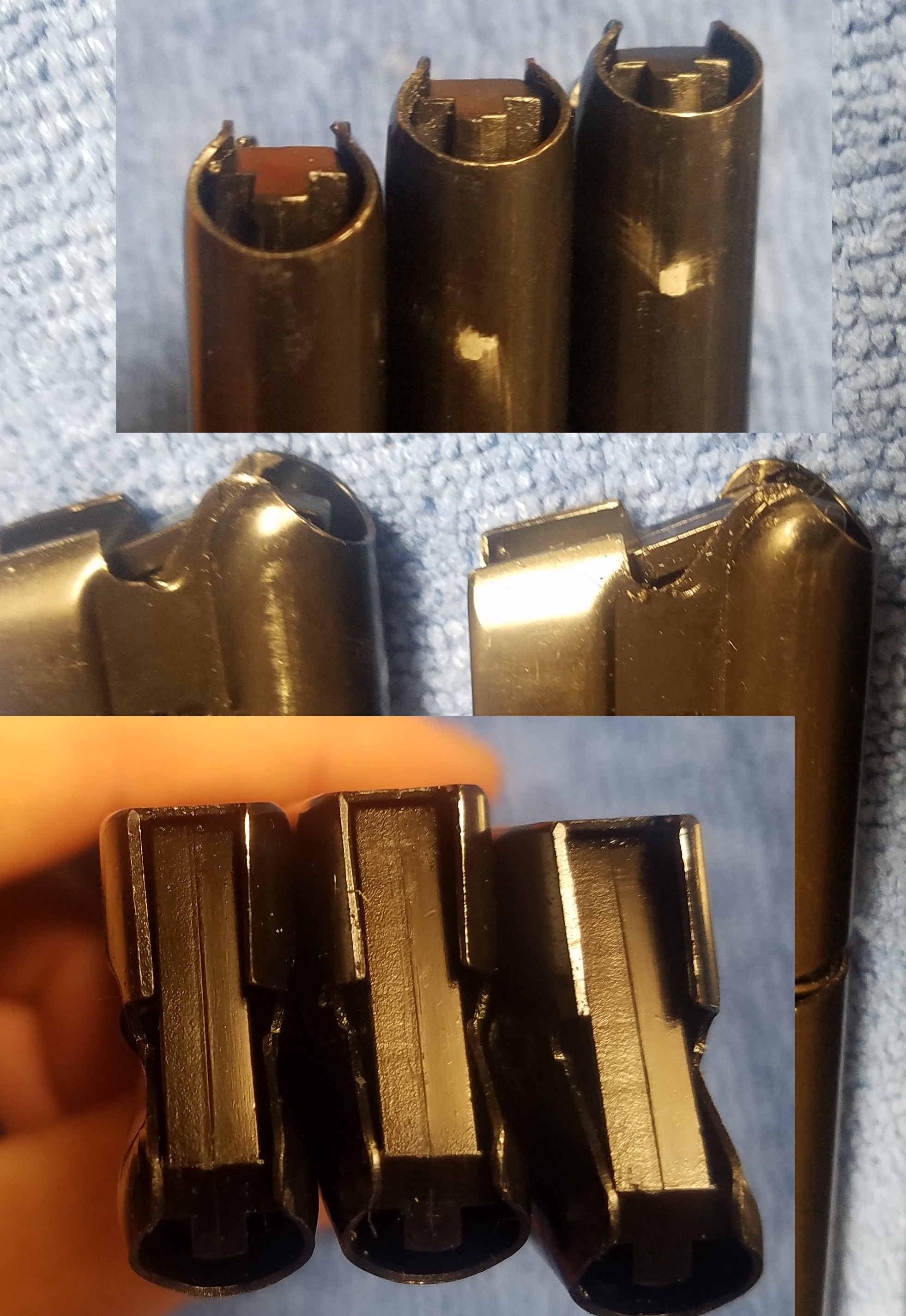 Smith & Wesson Model 41 - rounds damaged in magazine, prior to feeding Sw41mag3