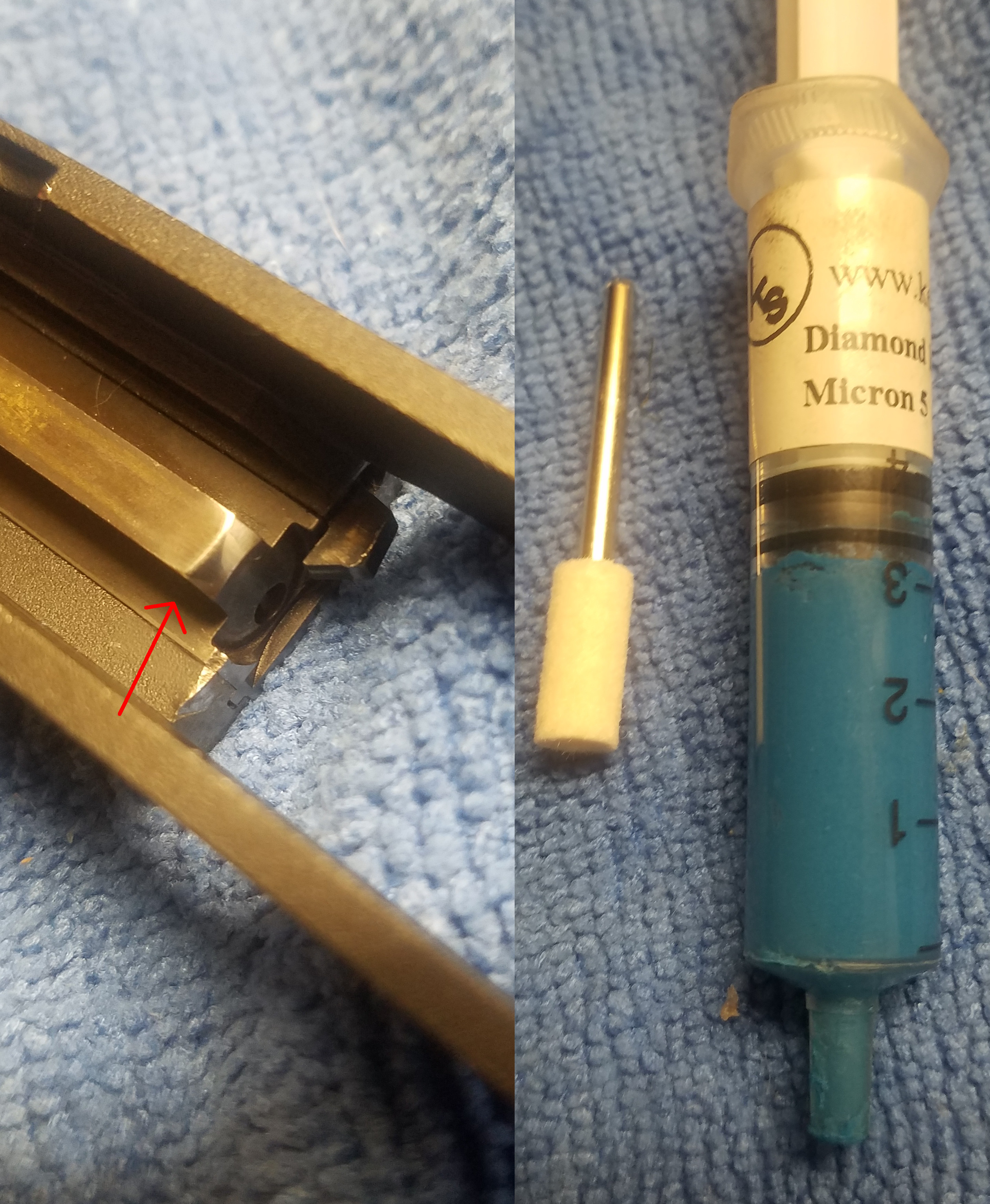 Smith & Wesson Model 41 - rounds damaged in magazine, prior to feeding Sw41polish2