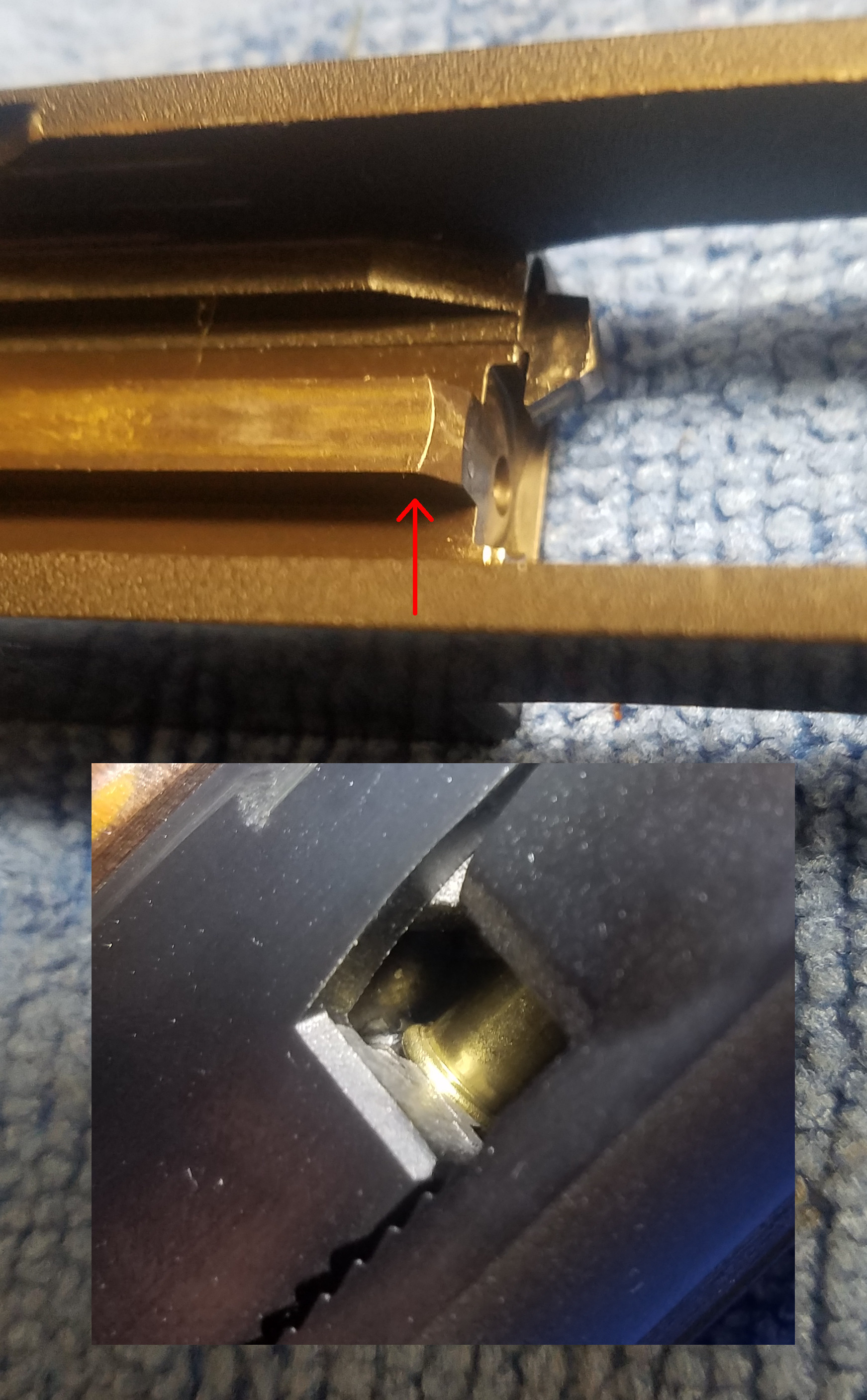 Smith & Wesson Model 41 - rounds damaged in magazine, prior to feeding Sw41slide